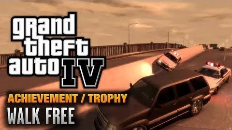 GTA 4 - Walk Free Achievement Trophy (1080p)