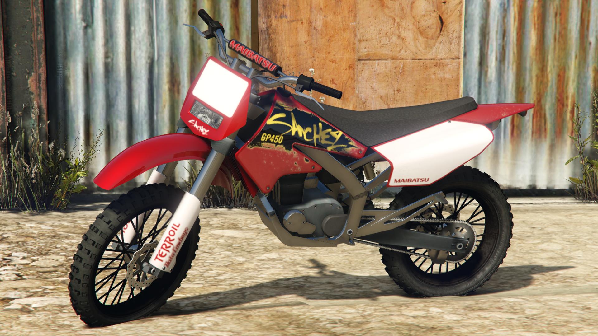 Image cj gtav transparent png gta wiki the grand theft auto wiki - A Sanchez In Grand Theft Auto V Rear Quarter View