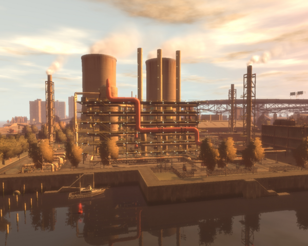 File:Acter Nuclear Power Plant GTAIV from south at dawn.png