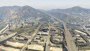 Four Level Interchange with Interstates 2 and 4
