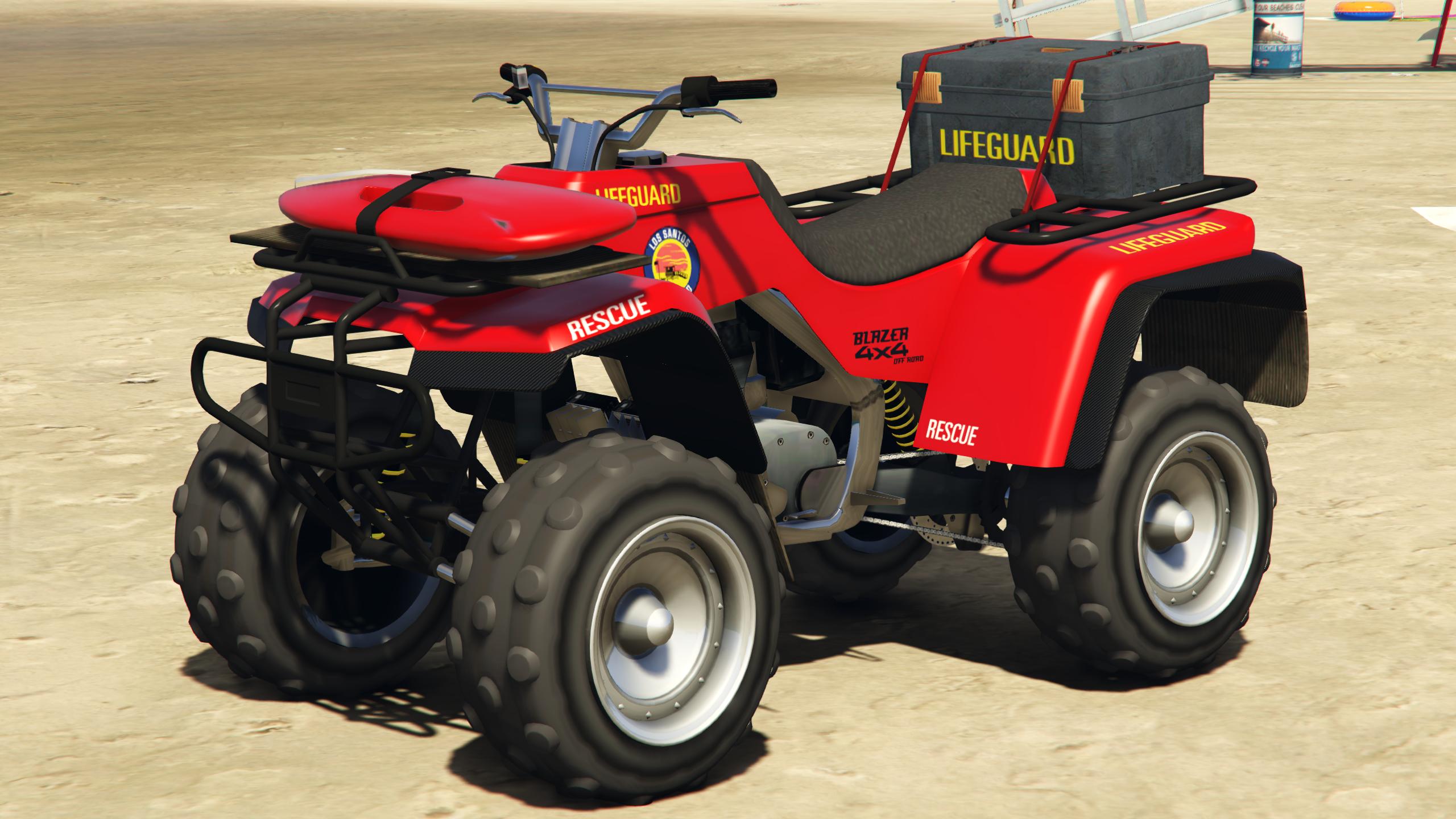 Car sticker design jb - A Blazer Lifeguard In Grand Theft Auto V Rear Quarter View