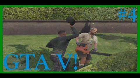 GTA V! JUDO CHOPPING A GARDENER! (Part 4)