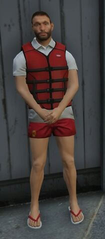 File:Lifeguard GTAVe Outfit White tee Red shorts Lifevest.jpg