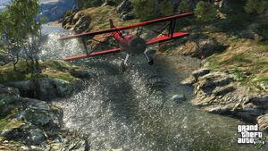 PlaneOverRiver-GTAV