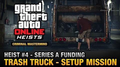GTA Online Heist 4 - Series A Funding - Trash Truck (Criminal Mastermind)