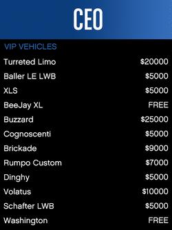 VIP-Vehicles-GTAO
