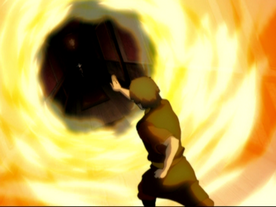 Zuko attacks Aang