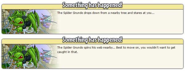 Spider grundo random events