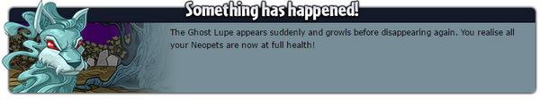 Ghost lupe random event full health