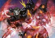 RX-0 Unicorn Mode VS NT-D Banshee
