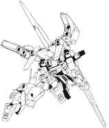 Lightning Gundam Full Burnern rear action view