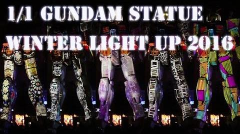 1 1 Gundam Statue WINTER LIGHT UP 2016