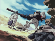 Gundam Ground type attacking