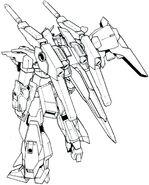 Lightning Gundam Full Burnern BW rear lineart