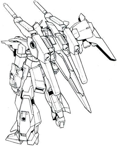 File:Lightning Gundam Full Burnern BW rear lineart.jpg