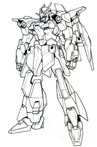 File:Lightning Gundam BW front lineart.jpg
