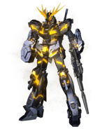 RX-0 Unicorn Gundam 02 Banshee (Destroy Mode) CG Art (Front)