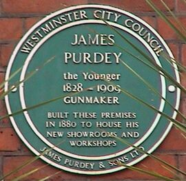 James Purdey & Sons plaque