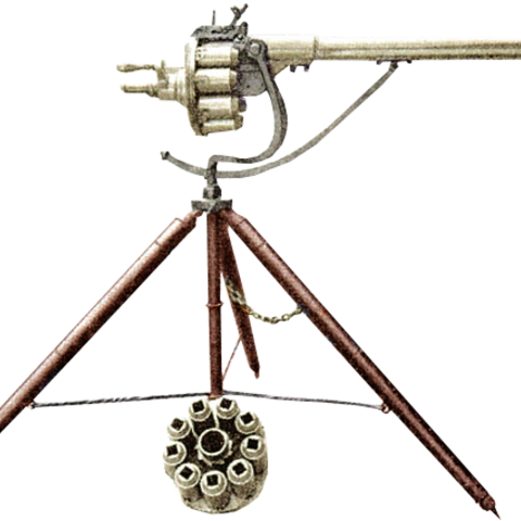 Puckle's 1718 revolving cannon, commonly referred to as the