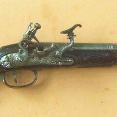 An Italian snaphance pistol.