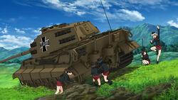 Erika's Tiger II suffers a breakdown