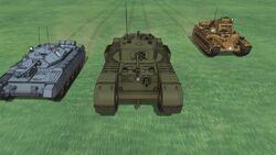 Gloriana tanks
