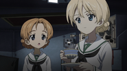 Orange Pekoe and Darjeeling in Ooarai uniform