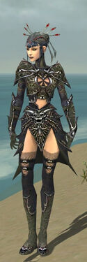 Necromancer Elite Necrotic Armor F gray front