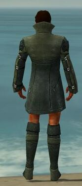 Mesmer Kurzick Armor M gray chest feet back