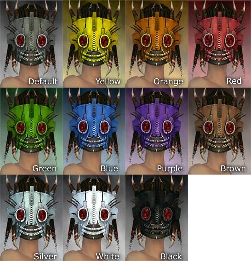 Dread Mask F dye chart