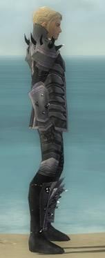 Elementalist Obsidian Armor M gray side
