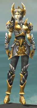Warrior Templar Armor F dyed front
