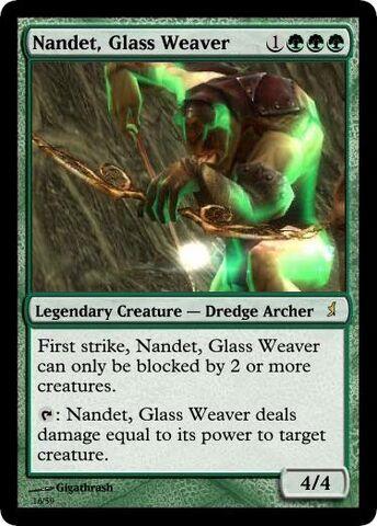 File:Giga's Nandet, Glass Weaver Magic Card.jpg