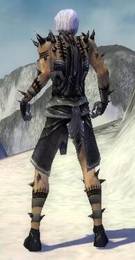 Necromancer Obsidian Armor M gray back