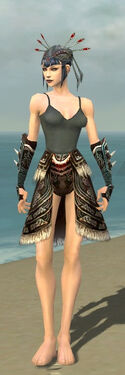 Necromancer Norn Armor F gray arms legs front