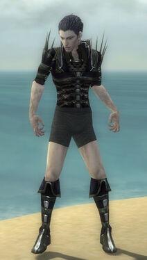 Necromancer Elite Cabal Armor M gray chest feet front