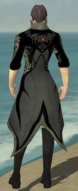 Elementalist Elite Kurzick Armor M gray chest feet back