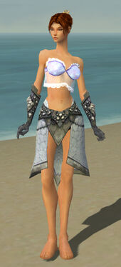 Elementalist Stoneforged Armor F gray arms legs front