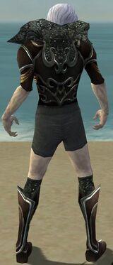Necromancer Vabbian Armor M gray chest feet back