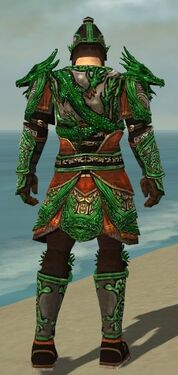 Warrior Elite Canthan Armor M dyed back