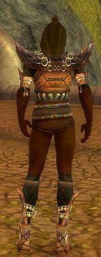 Ritualist Obsidian Armor M gray chest feet back