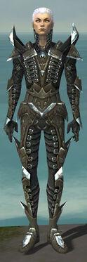 Necromancer Profane Armor M gray front