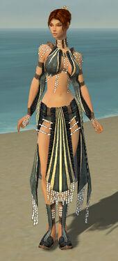 Elementalist Sunspear Armor F gray front