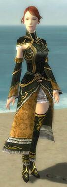 Mesmer Elite Sunspear Armor F gray chest feet front
