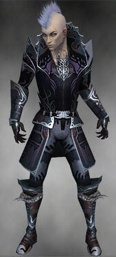 Necromancer Deldrimor Armor M gray front