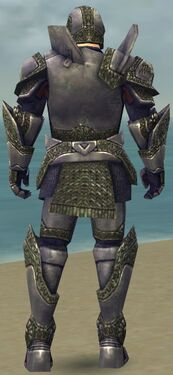 Warrior Platemail Armor M gray back