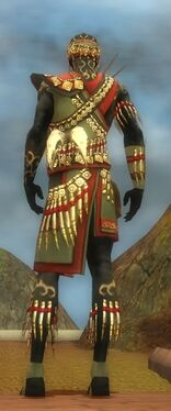 Ritualist Elite Canthan Armor M gray back