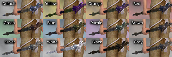 Earth Wand dye chart