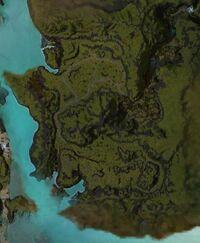 Kessex Peak map