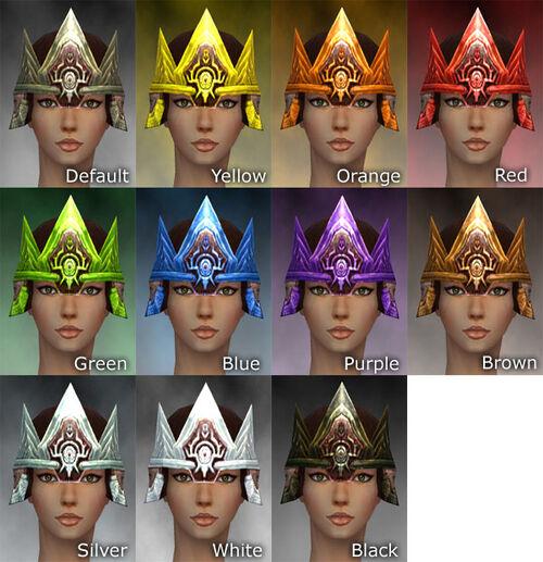 Crown F dye chart